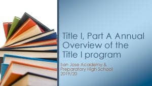 2019-2020 Title I Meeting Power Point